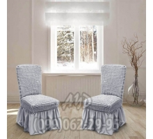 Чехол для стульев серый (комплект 4 шт.)