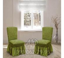 Чехол для стульев оливковый (комплект 4 шт.)