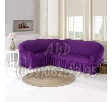 Чехол для углового дивана ярко-фиолетовый