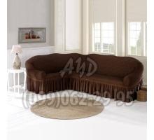 Чехол для углового дивана шоколадный