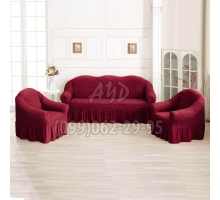 Чехлы для дивана и 2-х кресел бордовые