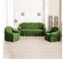 Чехлы для дивана и 2-х кресел зеленые