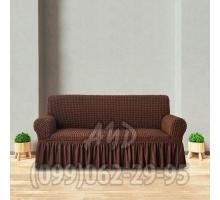 Чехол для дивана шоколадный