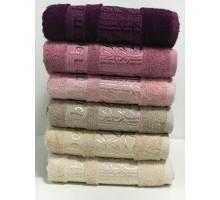 "Бамбуковые полотенца ""Zumrut-1"" для лица 50x90 (набор 6 шт.)"