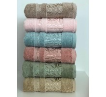 "Бамбуковые полотенца ""Zumrut-2"" для лица 50x90 (набор 6 шт.)"