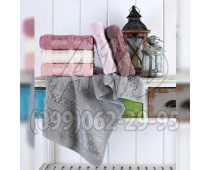 """Махровые полотенца """"Альфа"""" серия ШИК банные 70x140 (набор 6 шт.)"""