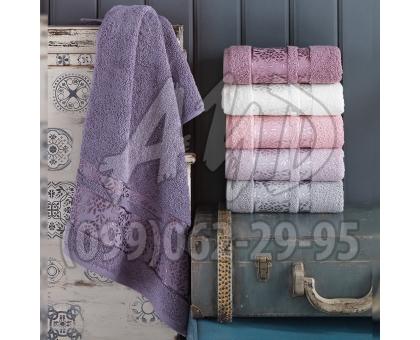 """Махровые полотенца """"Букет"""" банные серия ШИК 70x140 (набор 6 шт.)"""